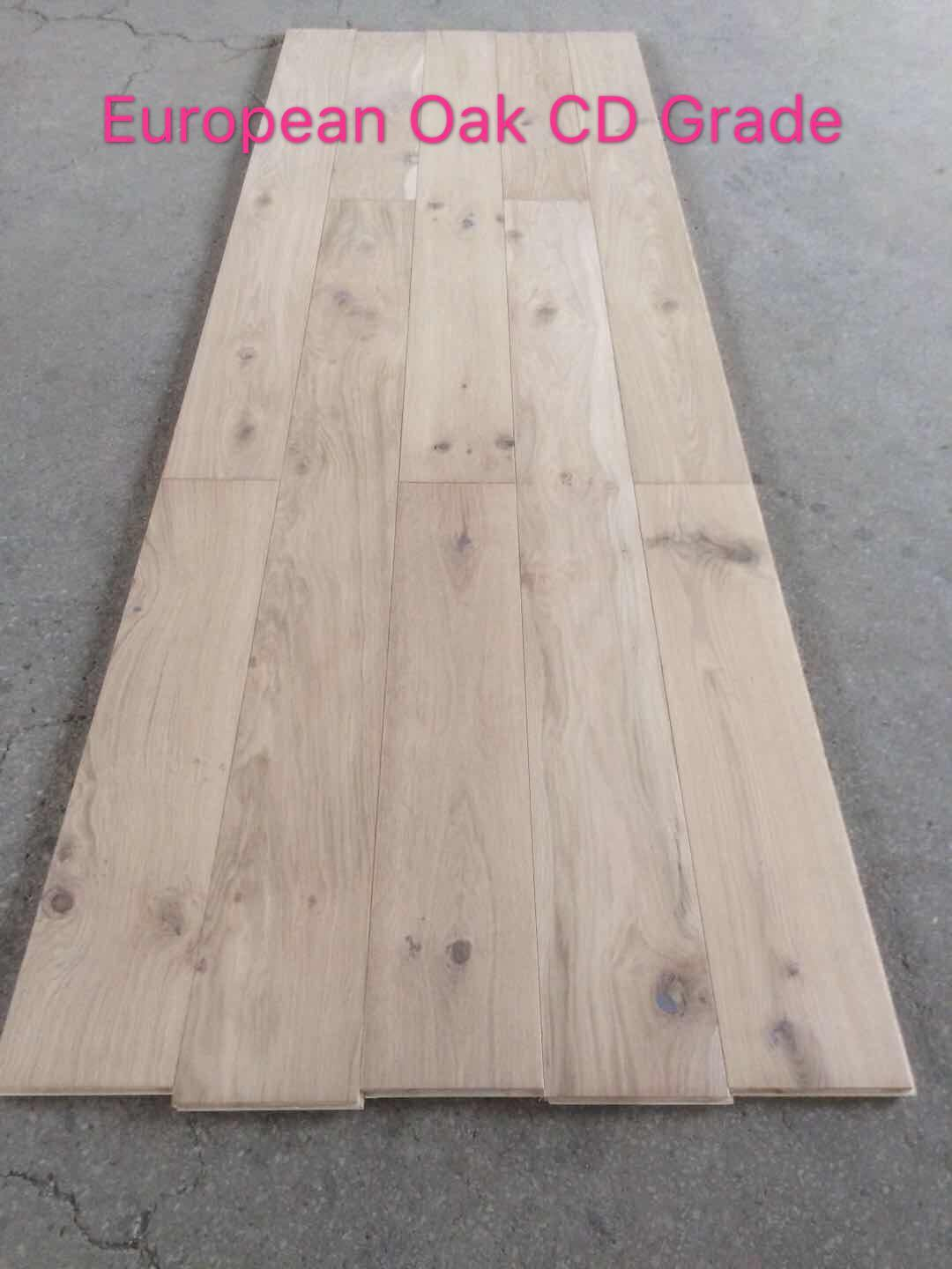 Low Cost 10mm Unfinished European Oak Engineered Flooring