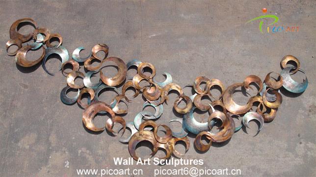 China Modern 3D Wall Decor Sculptures Metal Wall Art Sculpture for ...