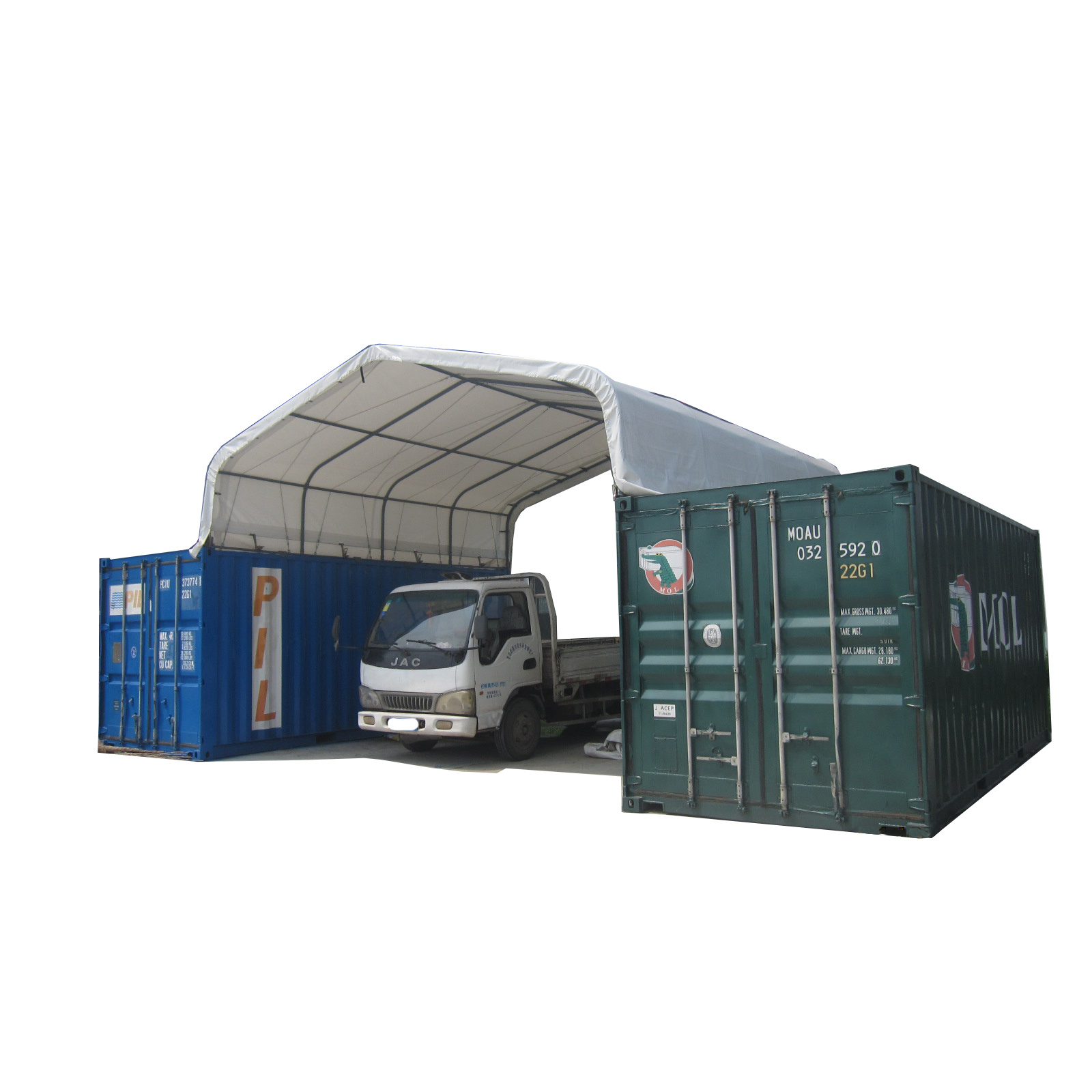 Custom Shipping Container Car Garage: China 40FT Shipping Container Garage Roof Storage Tent For