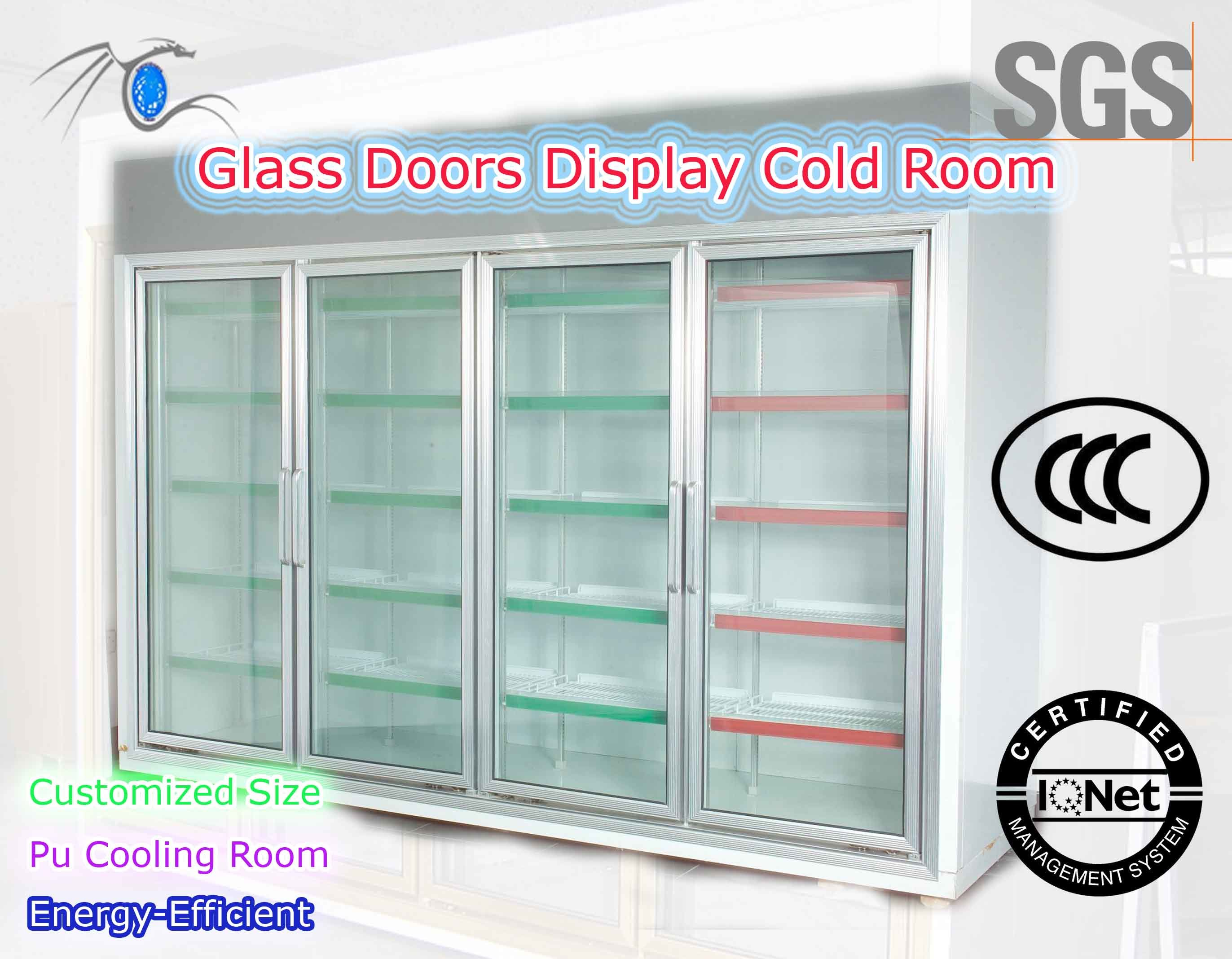 China Energy Efficient Four Doors Display Room For Supermarket Or
