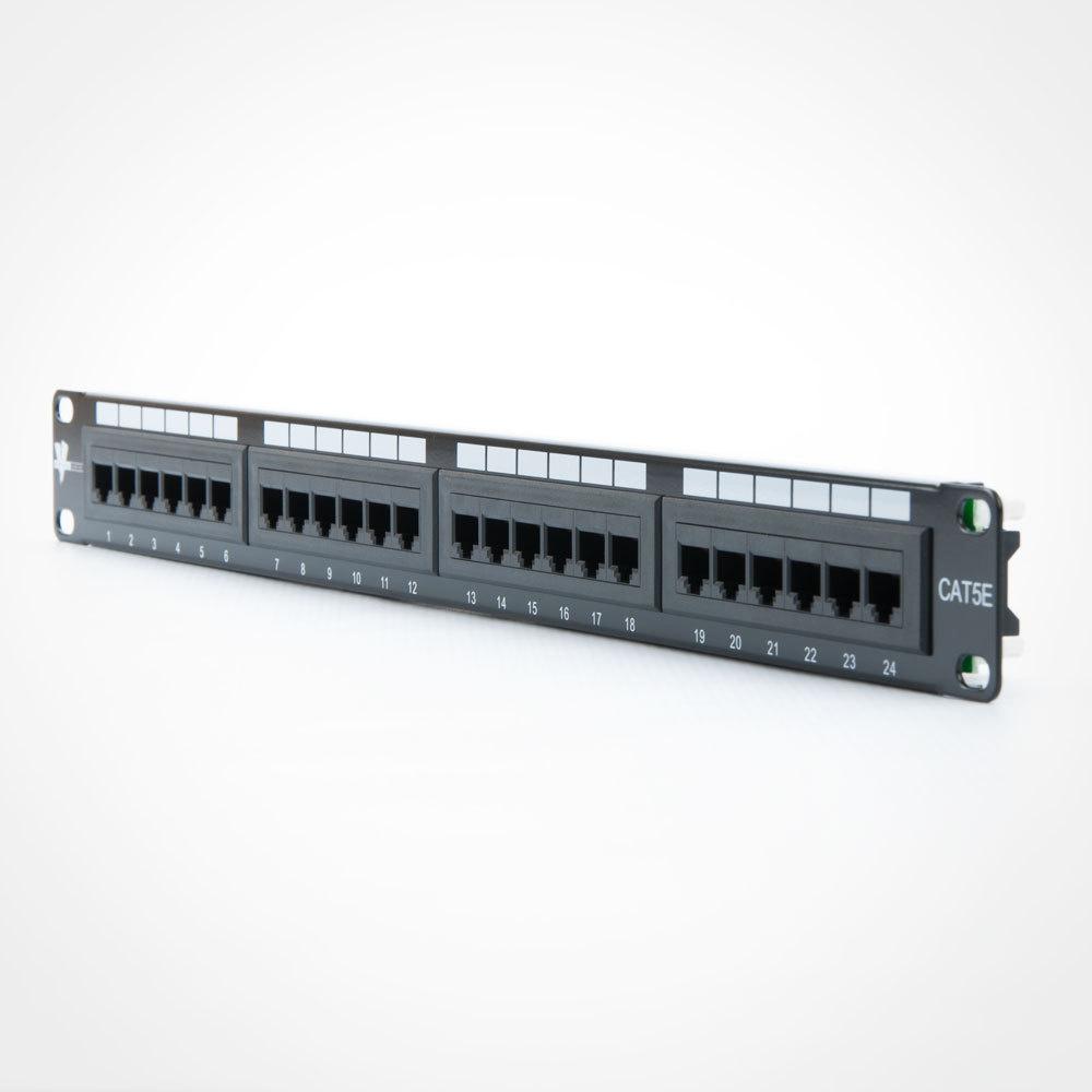 China Iso Iec 11801 Standard Cat5e 24 Ports Patch Panel 568b Wiring Data