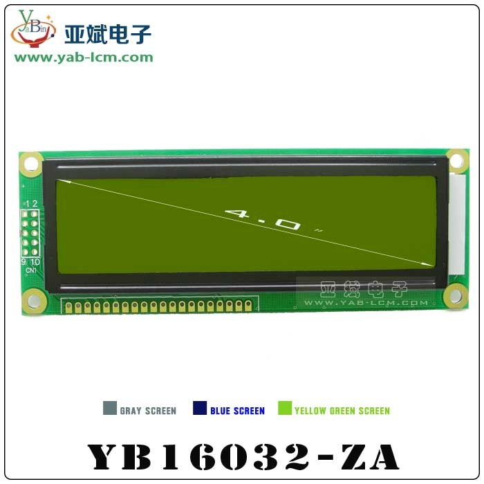 China Mono 160X32 Graphic LCD Module Display with St7920