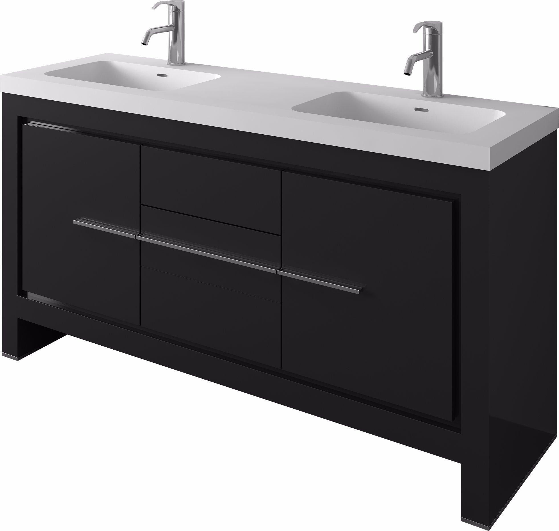 Double Sinks Bathroom Mdf Furniture