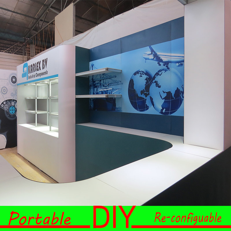 Portable Exhibition Display : China aluminum portable exhibition booth display stand china
