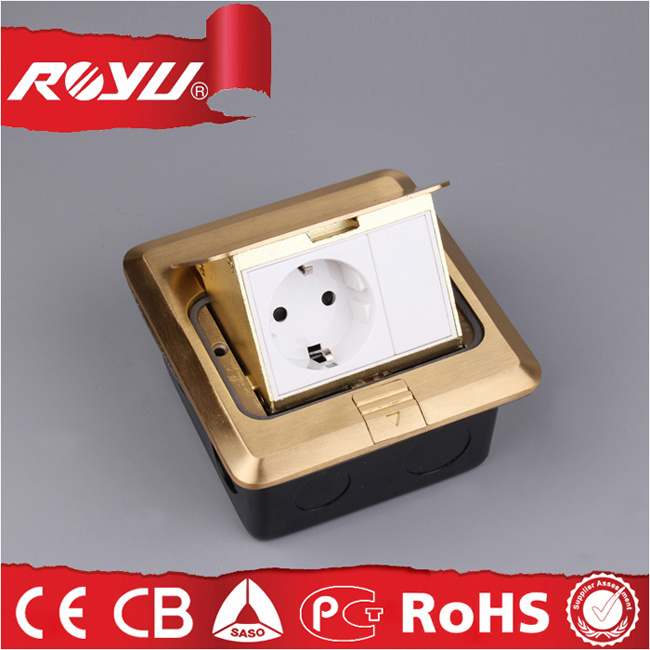 Square Shape Electrical Floor Socket