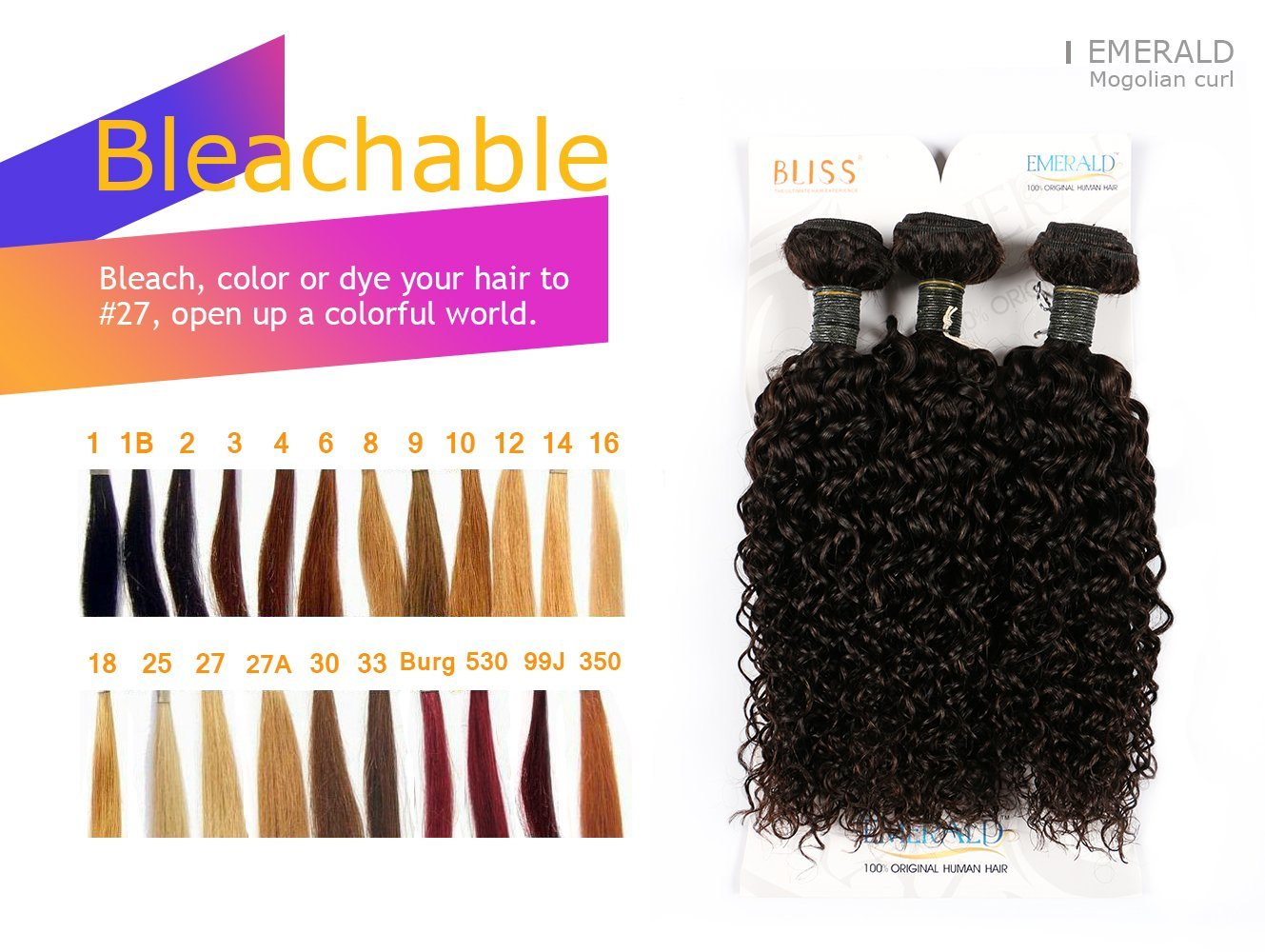 China Virgin Human Hair Extension Remy Brazilian Curly Style Bliss