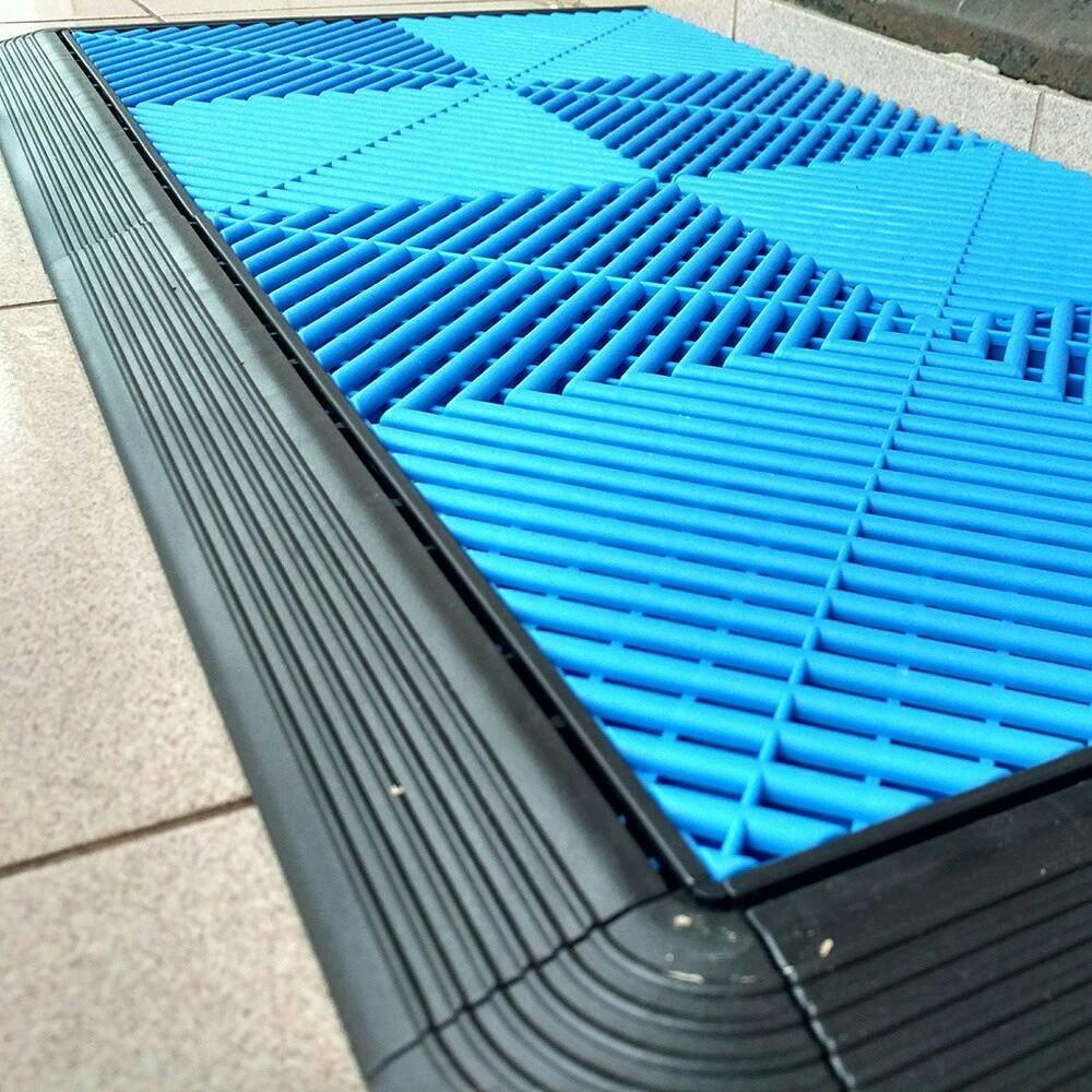 China Cheap Plastic Outdoor/Indoor Non-Slip Interlocking Free Flow ...