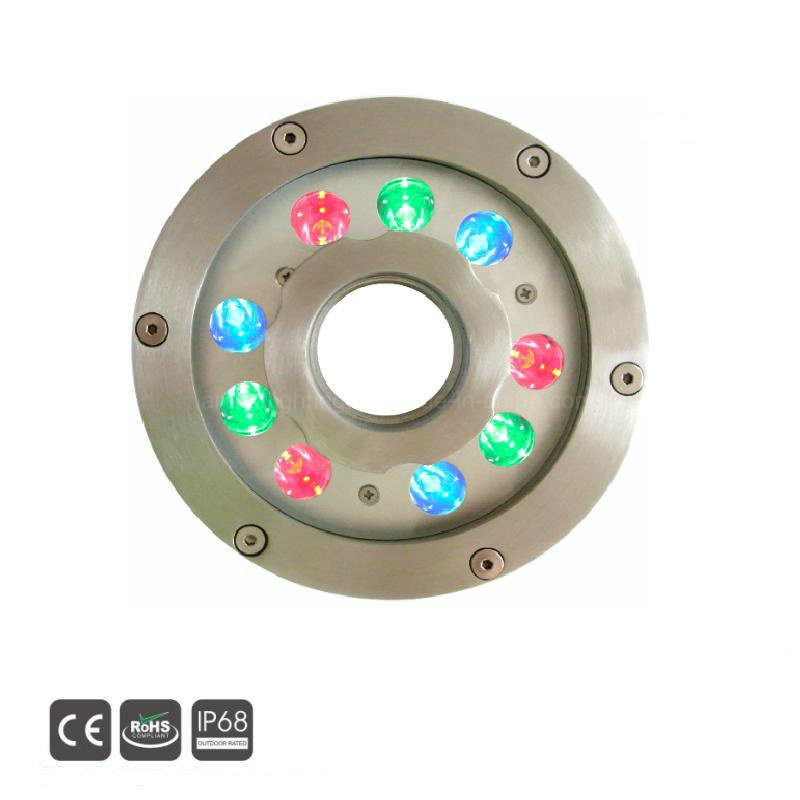 IP68 27W RGB LED Pool Lights LED Underwater Fountain Light pictures & photos