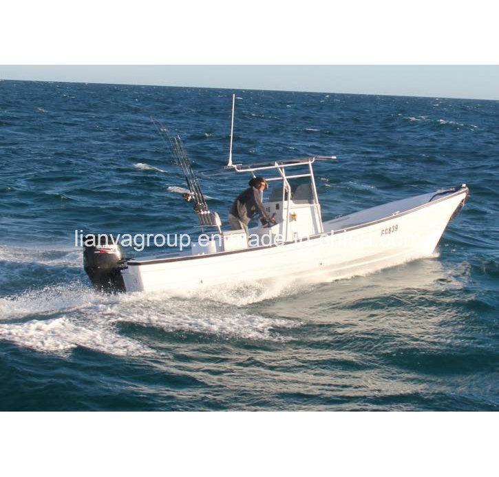 Hot Item Liya 5 8m 70hp Outboard Sport Fishing Boat Fiberglass Panga Boat