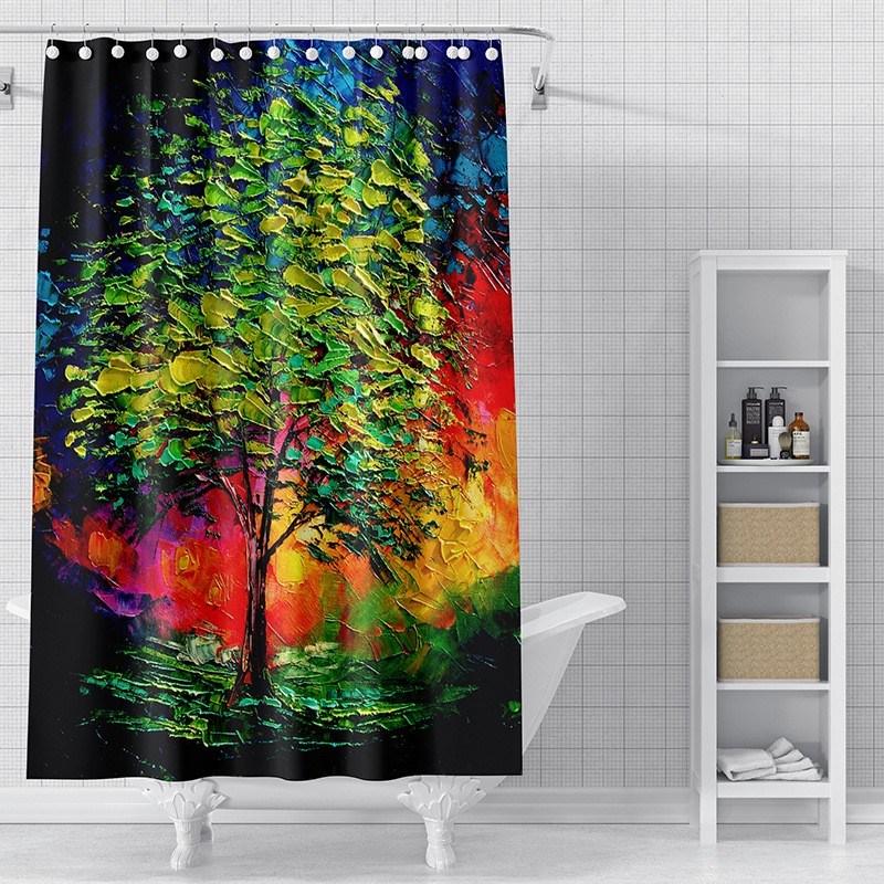 Hot Item Leastest Custom Design Printing Fancy Peva Shower Curtain