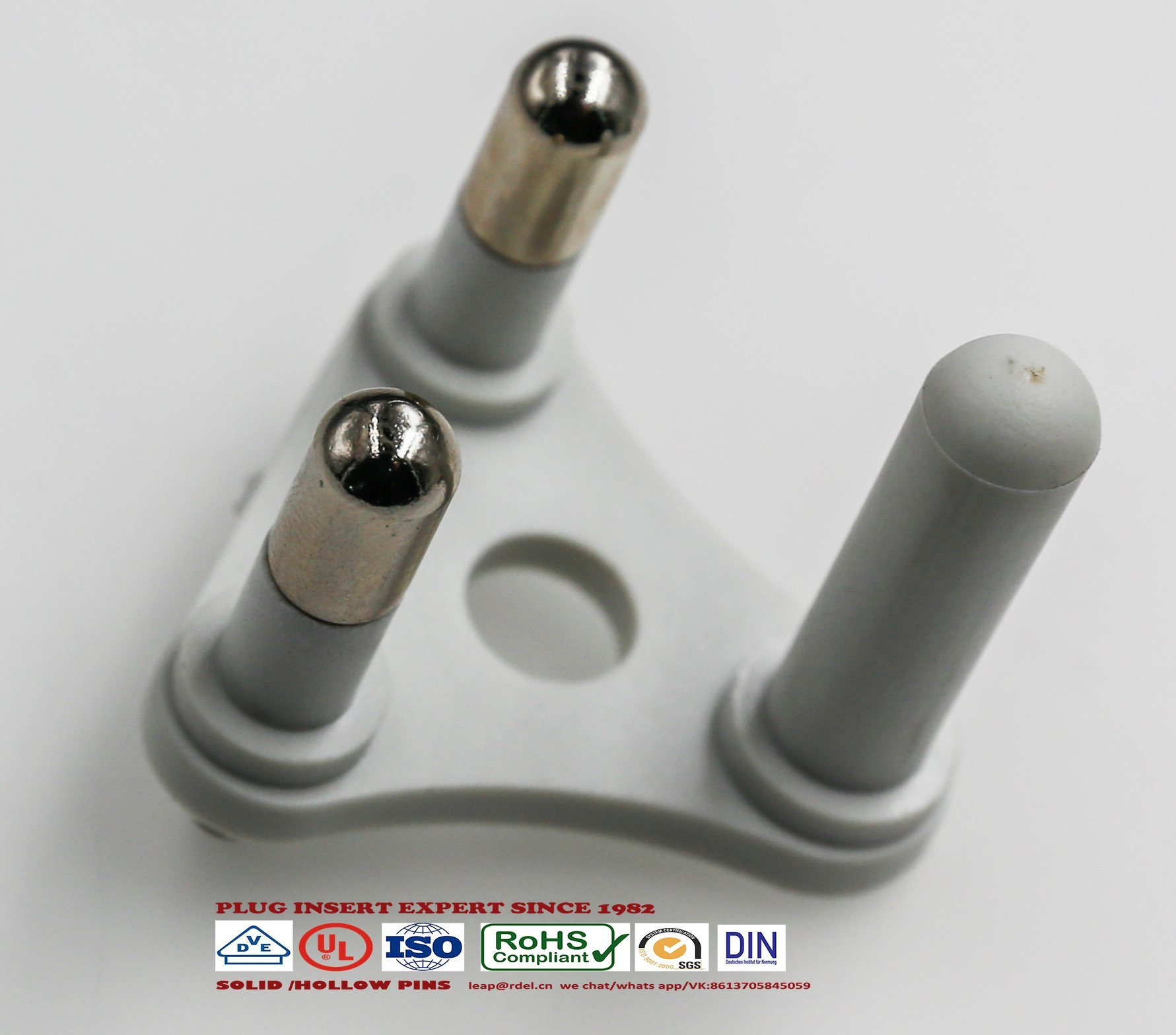 China 3 Pin 16amp 6amp South Africa Plug Insert India Hollow Solid Using A Screw Or Against On Wiring Socket