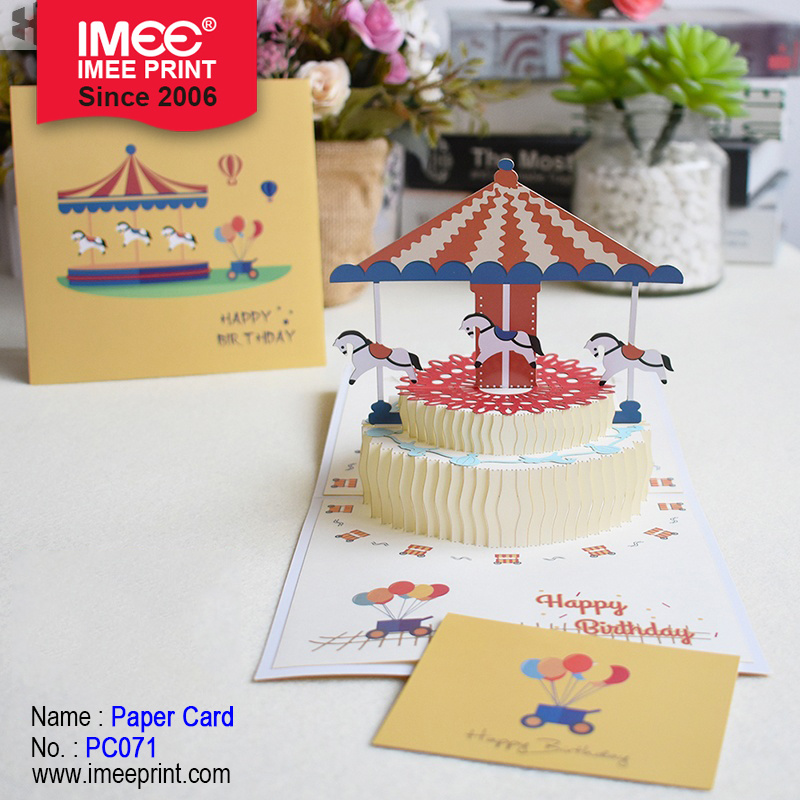 Details about  /New 3D Pop Up Greeting Card Birthday Valentine Anniversary Gift Merry Go Round