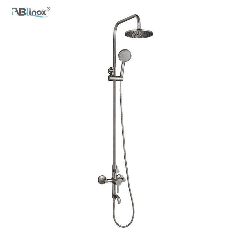 Hot Item 3 Function Round Shower Faucet Set Wall Mounted Rainfall Shower Head Mixer Tap