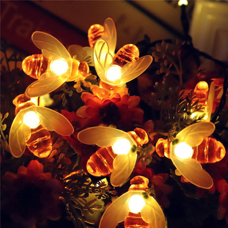Solar Honeybee Fairy String Lights