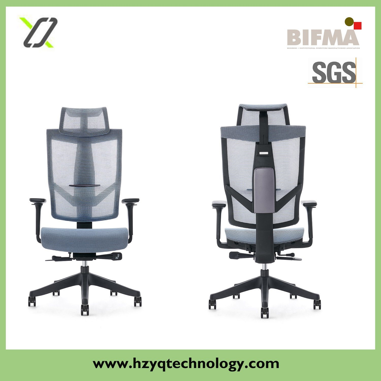 [Hot Item] Ergonomic Adjustable Mesh Chair Slide Mechanism Comfortable  Swivel Office Furniture