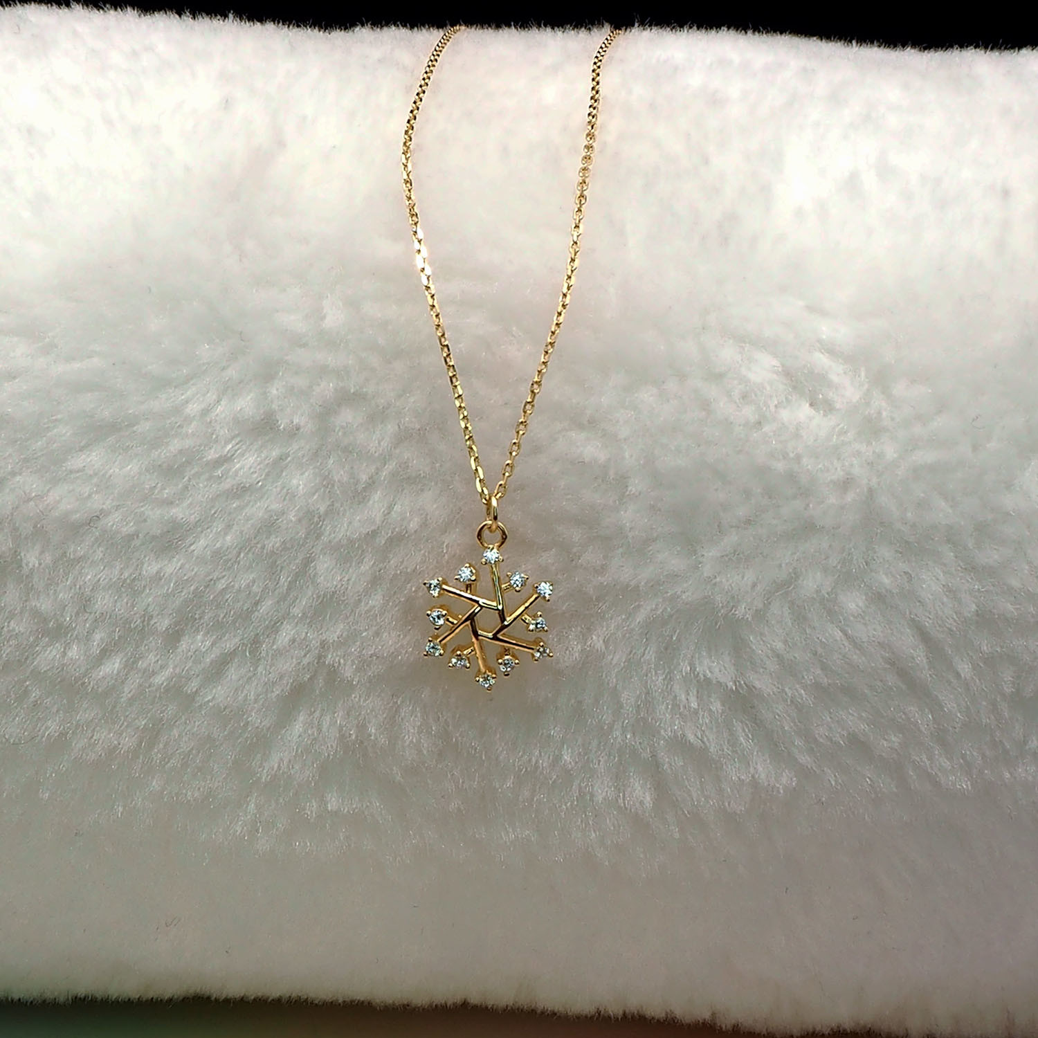 China Gold Plated Jewelry Imitation Jewelry Fashion Jewelry Snowflake Necklace For Girls China Silver Jewelry And Silver Necklace Price