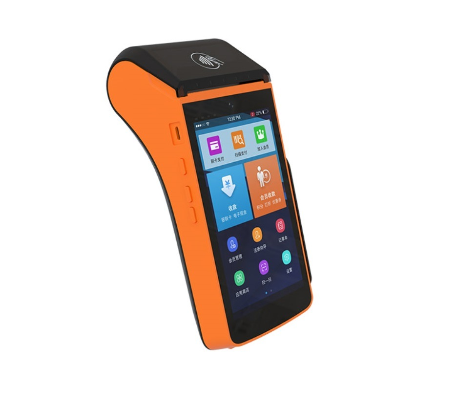 China EMV Bluetooth Mobile All in One POS Terminal Chip Card