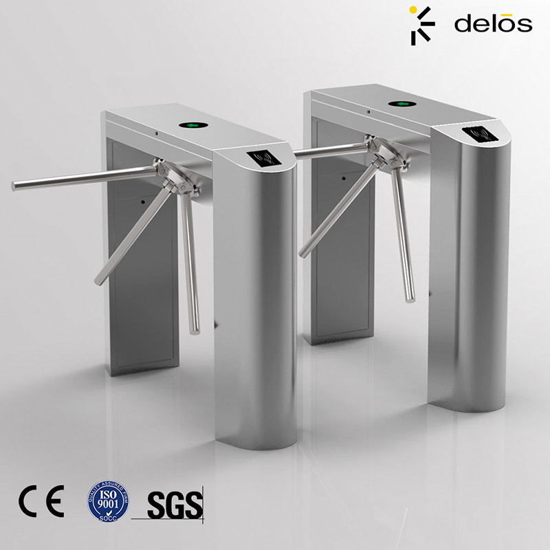 China Automatic Pedestrian Access Control Waist High 304 Stainless Steel Tripod Turnstile Gate with RFID Card/Fingerprint Reader - China Tripod Turnstile ... & China Automatic Pedestrian Access Control Waist High 304 Stainless ...