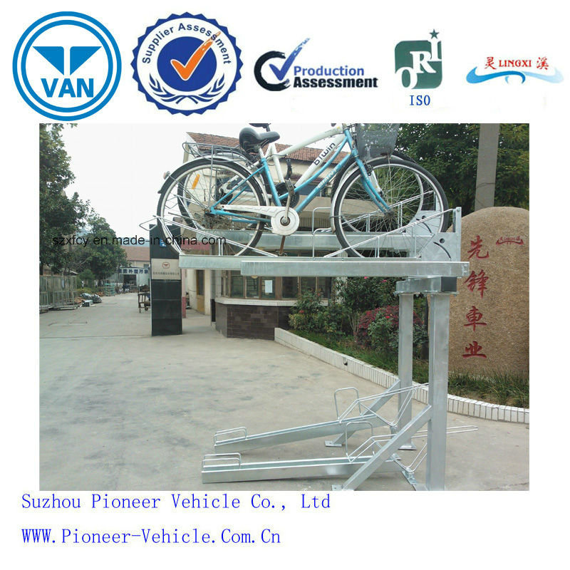 2017 Factory New Design Two Tier Bike Rack Double Layer pictures & photos