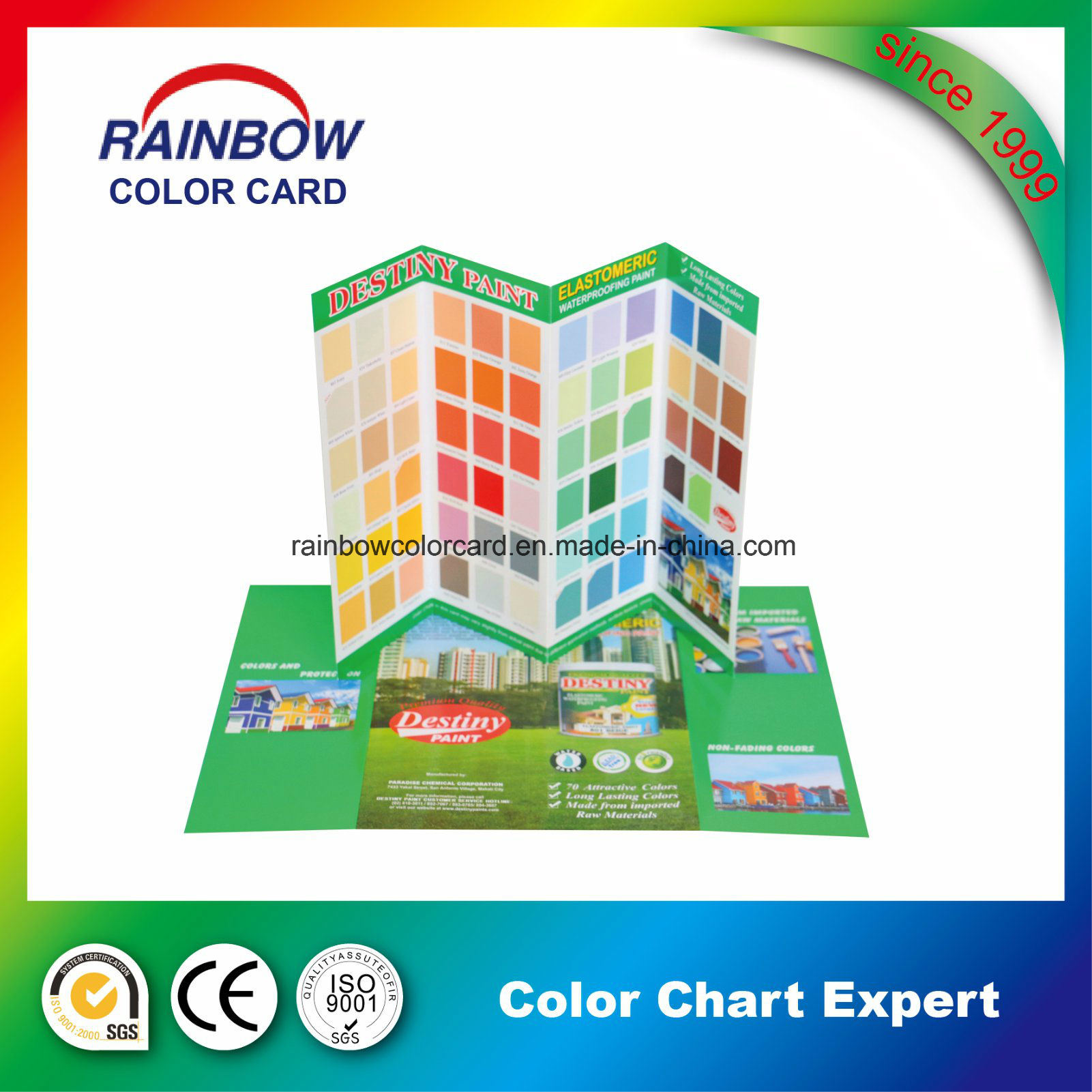 OEM Folded Building Paint Book Printing Service