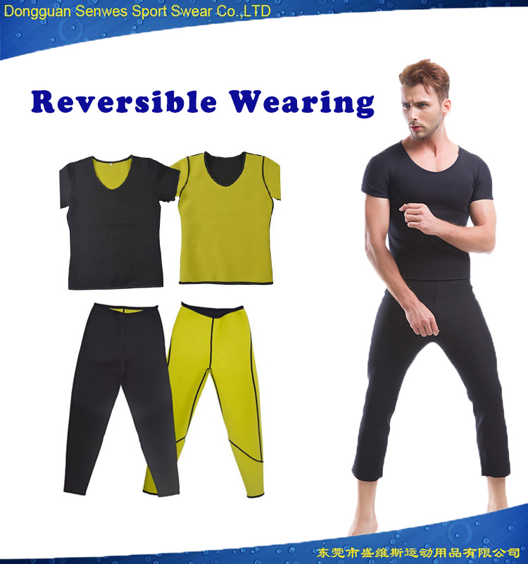 c63f3868e0a China Men Neoprene Ultra Sweat Tops and Pants Bodysuit Hot Shapers - China  Shapers