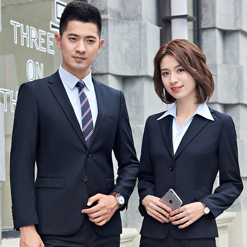 [Hot Item] New Business Suit for Men and Women with The Same Type of  Business Suit Korean Version Suit for Women Interview Dress Uniform
