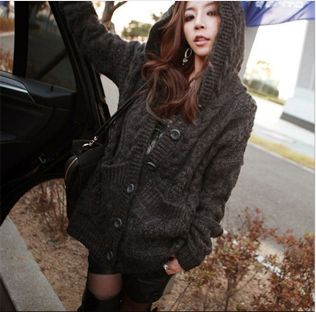 b853204a5 China Women′s Knitting Jumper Hoodie Sweater Long Style Factory ...