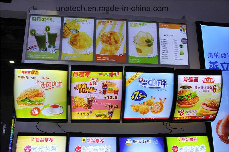 [Hot Item] LED Menu Board Advertising Indoor Fast Food Restaurant Media  Signage Arc Curve Light Box