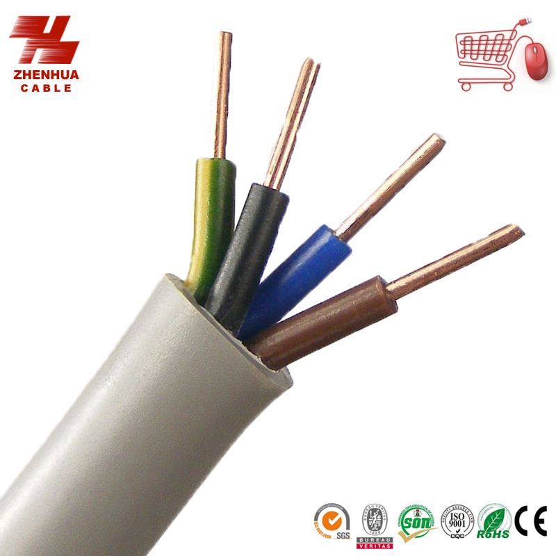 China BVV PVC Insulated Sheathed Round Flexible Copper Wire - China ...