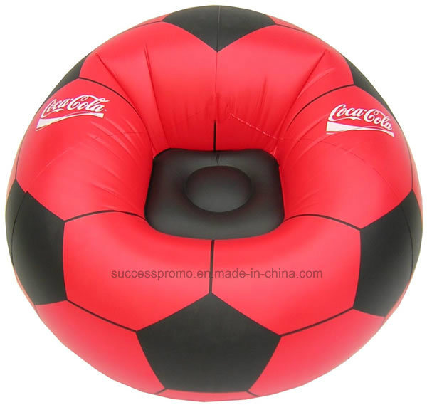 Promotional Football Design PVC Inflatable Chair, Inflatable Sofa