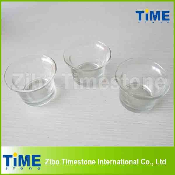 Round Shape Transparent Glass Candle Holders