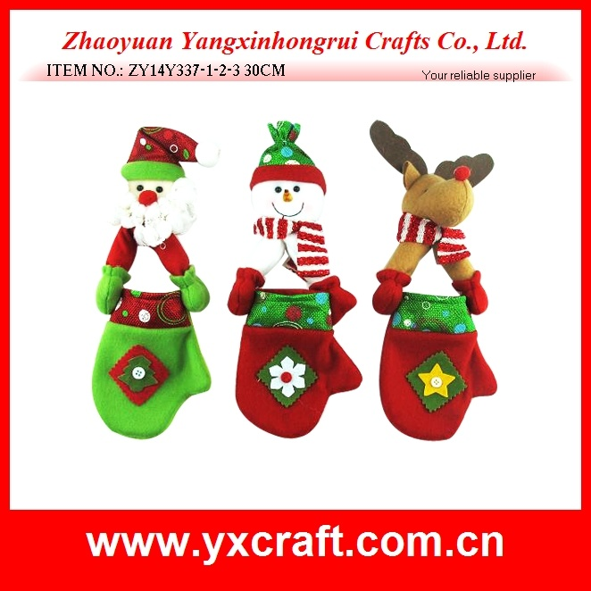 Christmas Decoration (ZY14Y337-1-2-3) Christmas Glove Hanging Christmas Item New Design