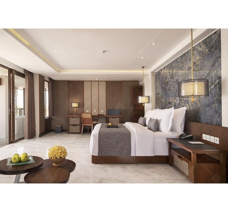Artistic Design Chinese Style 5 Stars Resort Hotel Bedroom Furniture Sets Commercial Use for Sale pictures & photos