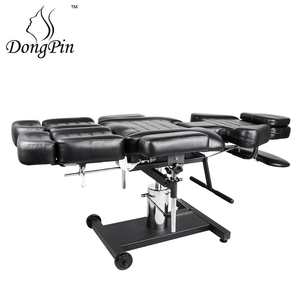 [Hot Item] Adjustable Tattoo Bed, Poltrona Tattoo Furniture with Tattoo  Work Station