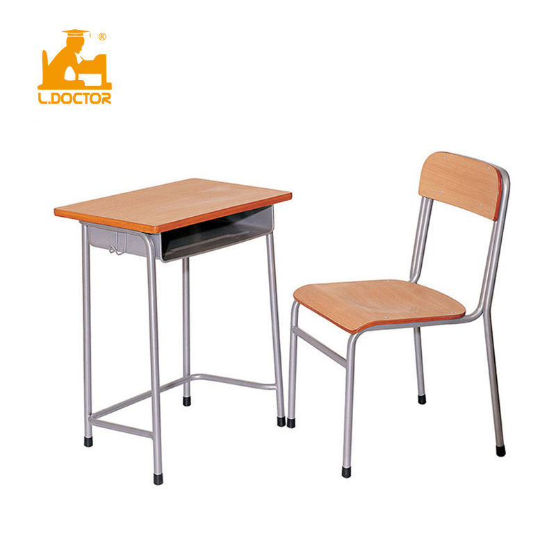 Wooden School Single Tables, Wooden School Desk And Chair