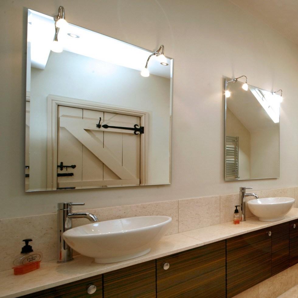 China 4mm Bevel Edge Frameless Decorative Bathroom Mirror With Hanger China Mirror Glass Mirror