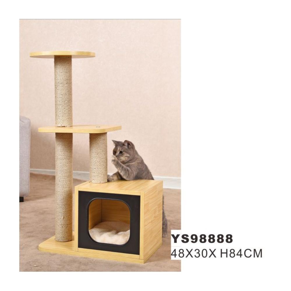Hot Item Pet House Cat Climbing Scratcher Wooden Cat Tree Ys98888
