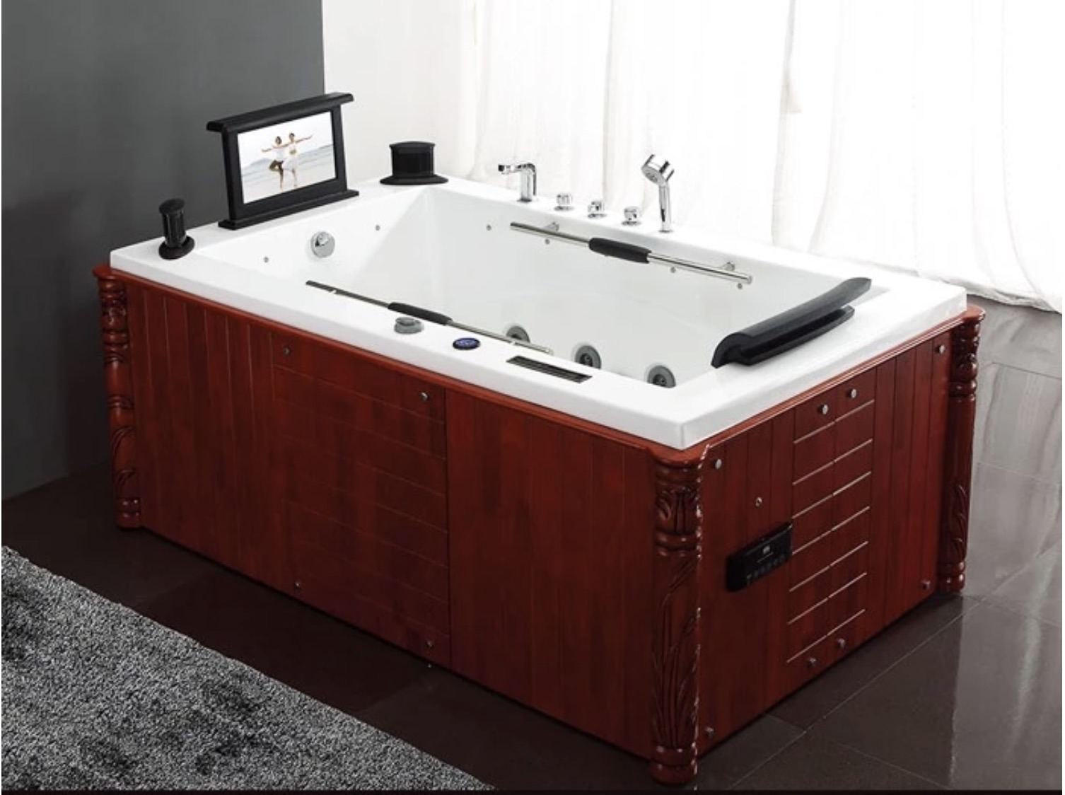 China Indoor One Person Hot Tub Massage Bathtubs With Pop Up Speaker China Massage Bathtubs Bathtub Price