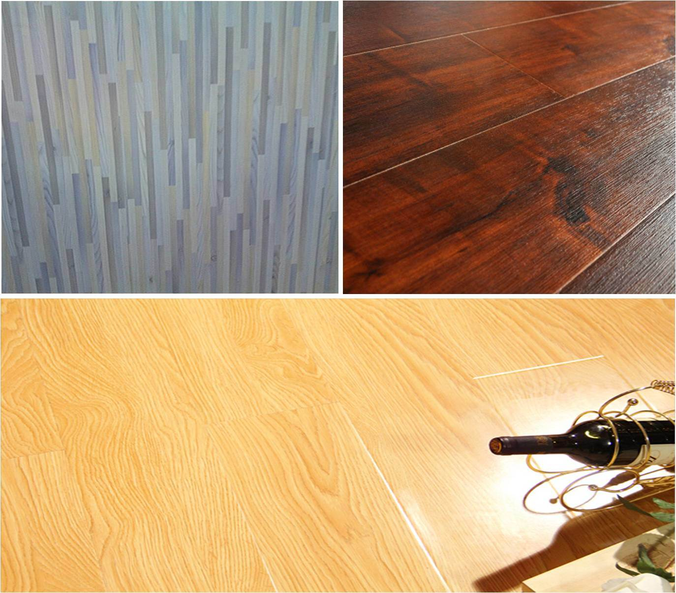 China 12mm Thickness Small Embossed Laminate Laminated Flooring
