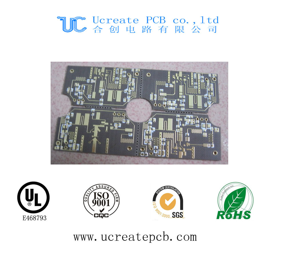 China Black Mask Multilayer Printed Circuit Board Pcb With Good Quality Pcba