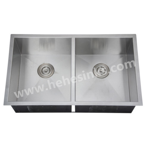 Square Double Bowl Handmade Sink with Cupc Approved, Handcraft Sink (HMSD3219) pictures & photos