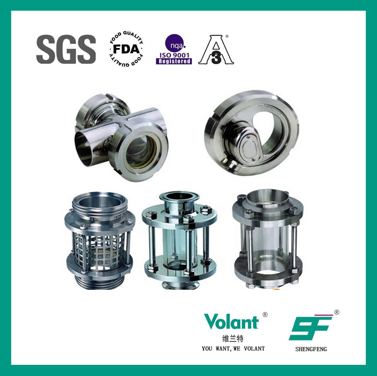 Stainless Steel Sanitary Tubular Sight Glass