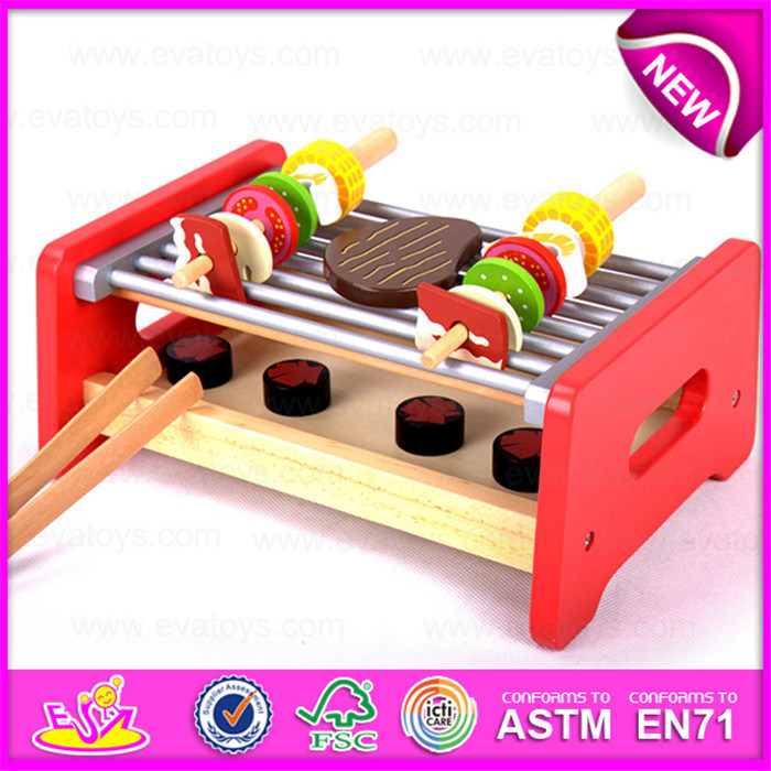 China Wooden Pretend Play Barbecue Food