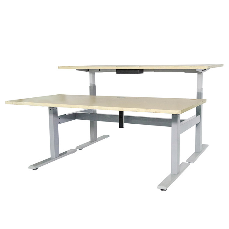 China Desk Frame, Face-Face Height Adjustable Table - China ...