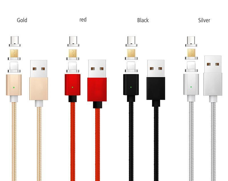 [Hot Item] 3 in 1 Data Line Magnetic Cable Micro USB Cable for Apple for  Android Type C