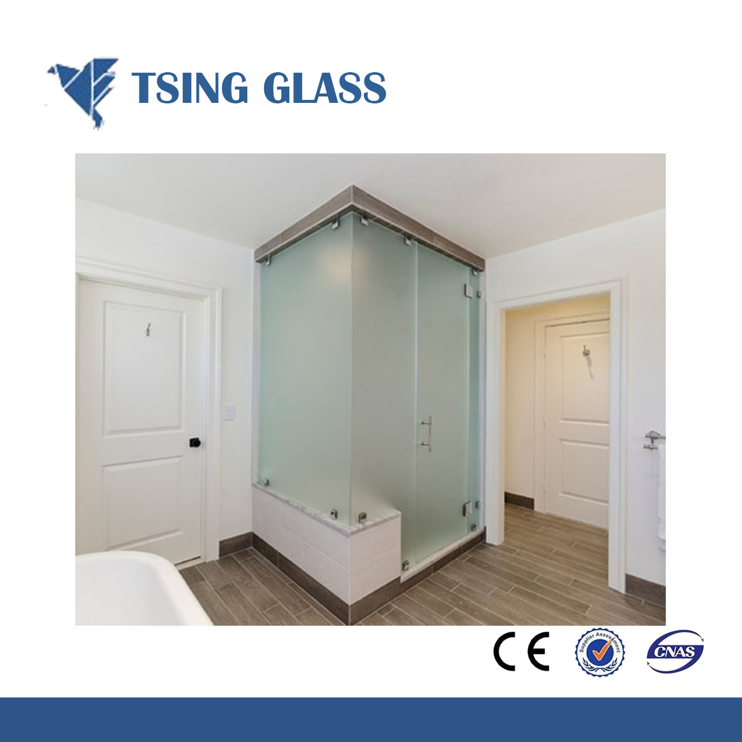 China Translucent Glass Frosted Glass Frosting Glass For