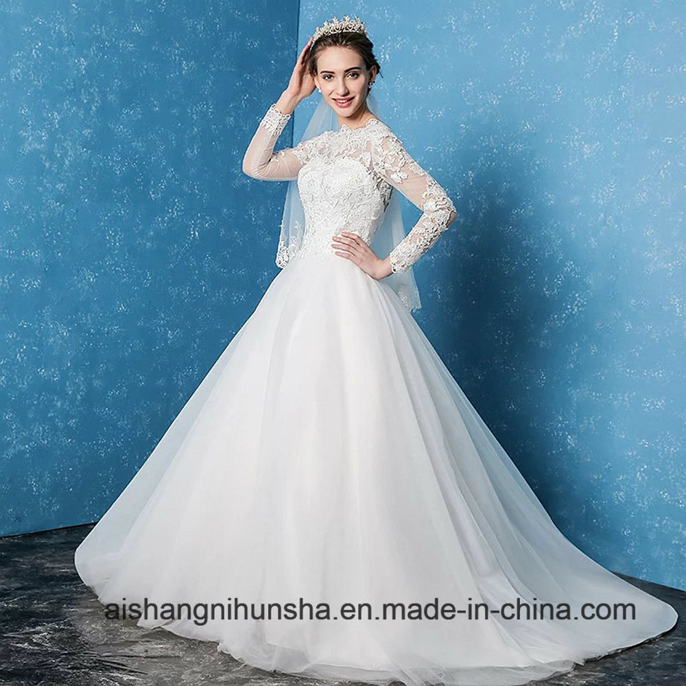 China Beautiful Elegant Wedding Dress Backless Applique Wedding Gown ...