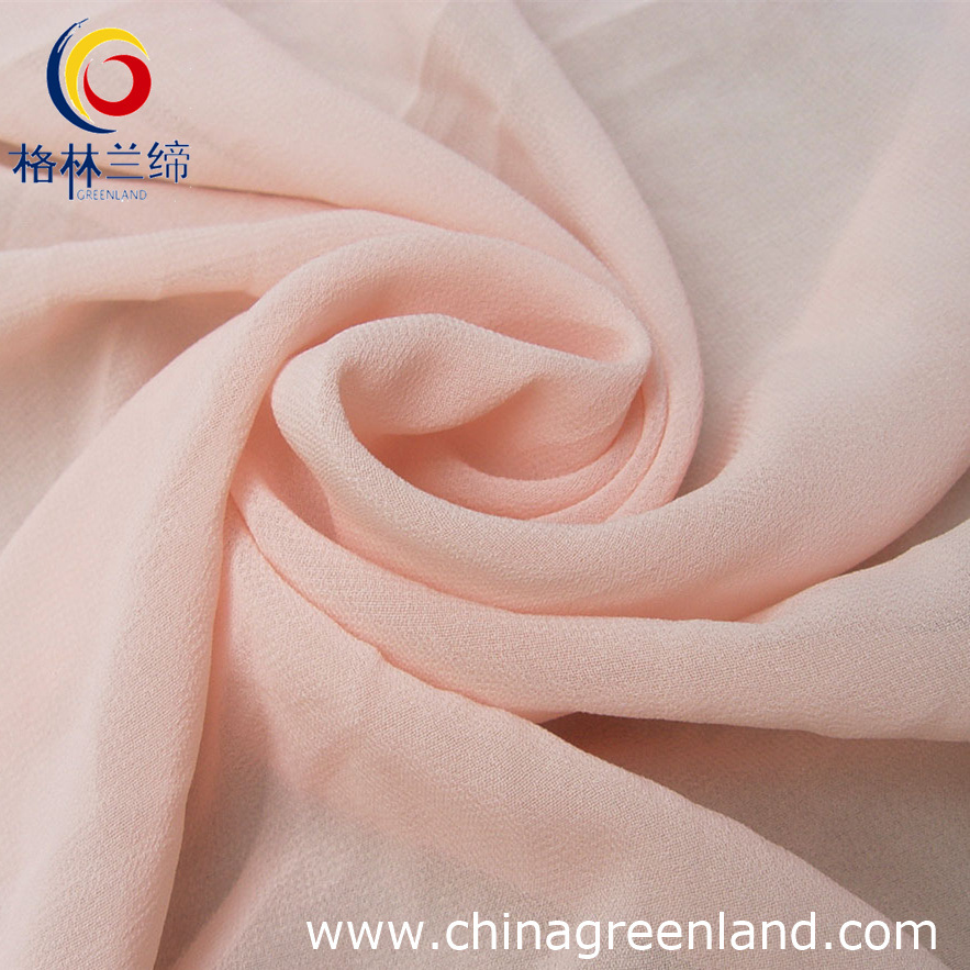 100%Polyester Chiffon Dying Fabric for Garment Textile (GLLML050)
