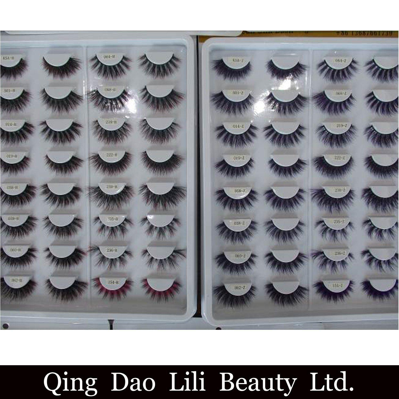 China Soft New Design Fake Pbt Fiber Synthetic False Mink Eyelashes