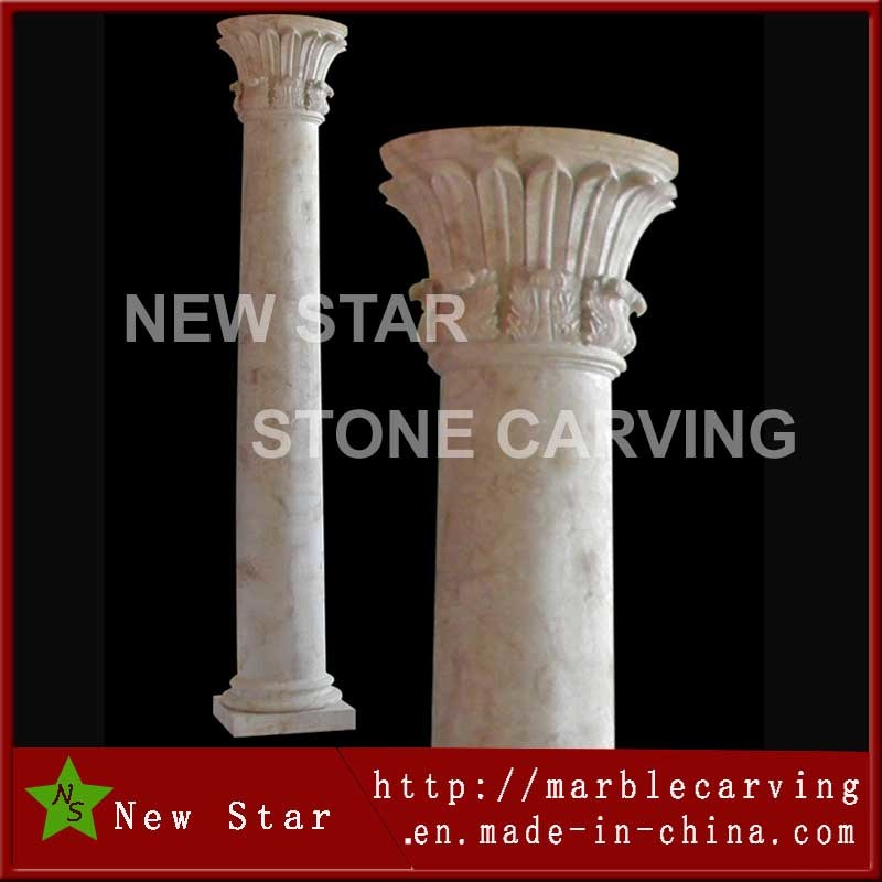 Top China Wind of Temple Design Roman Column, Stone Pillar for  MF27